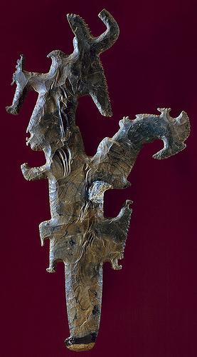013 -Cetro de pedernal con figuras-siglos VII al VIII Guatemala