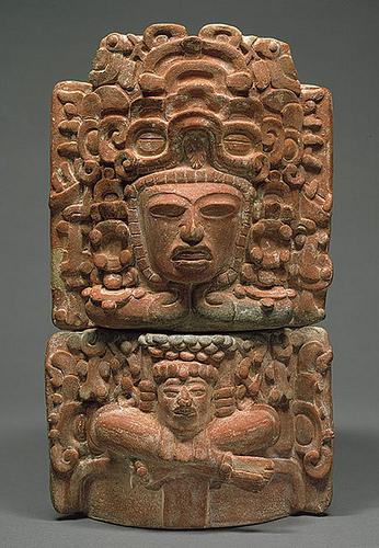 005 - Incensario con forma de figura sentada-siglos V-VI Guatemala