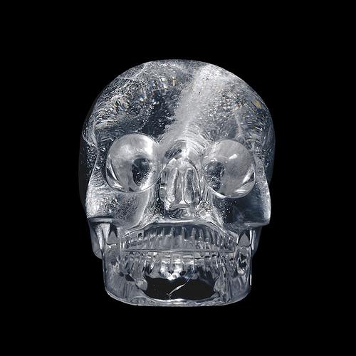 018- cráneo de cristal de roca-Probablemente de Europa-siglo 19 dC-© Trustees of the British Museum